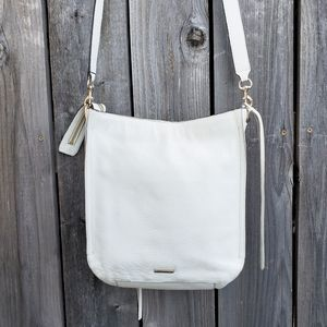 Rebecca Minkoff White Leather Regan Feed Bag